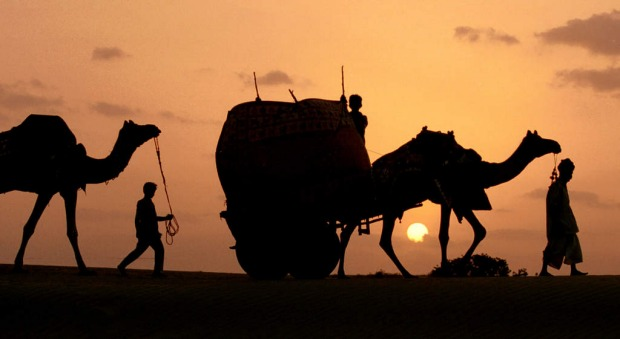 Rajasthan's Golden City of Jaisalmer rises majestically out of the sands of the Thar Desert, but it's outside the city ...