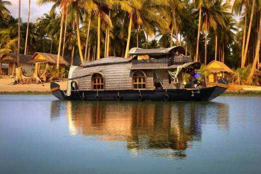 A cruise along the palm tree-lined backwaters of Kerala on a houseboat is a must-do South Indian experience.