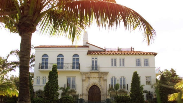 The exterior of the Versace mansion in Miami.
