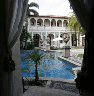 The swimming pool as seen from The Rotunda.