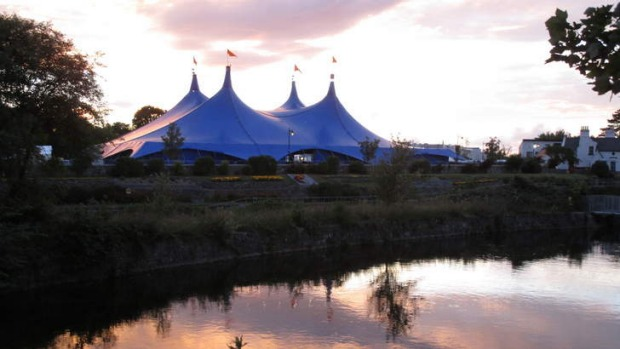 The west is best: The Big Top, host to the annual arts festival that draws tourists in their thousands.