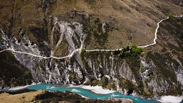 Beautiful and terrifying ... Skippers Canyon above the Shotover River, near Queenstown.