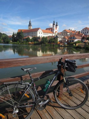 Czech mates:  a rest stop outside Trebon in the Czech Republic.