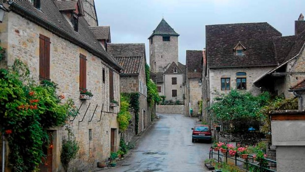 Close quarters: The main street in Autoire in south-western France, billed as one of the country's most beautiful villages.