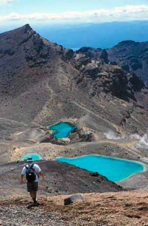 Emerald Lakes at the Tongariro Crossing, New Zealand.