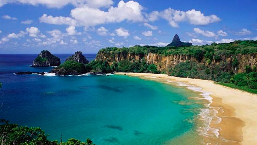 Hard to reach, but worth it: Brazil's Sancho Bay on the remote island of Fernando de Noronha has been named the world?s ...