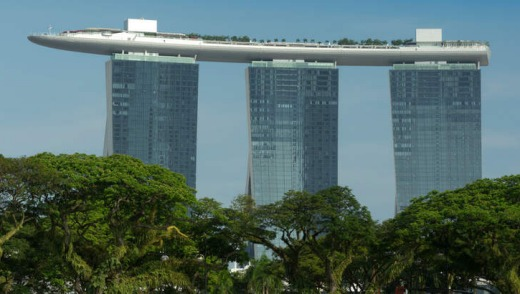 The Marina Bay Sands Hotel, Singapore.
