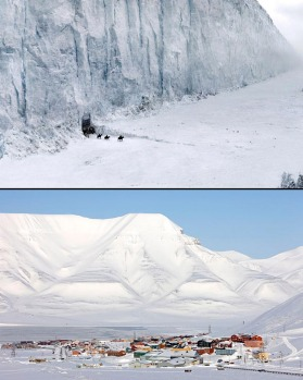 Ice and snow: You want to go beyond the wall (top), book a ticket to Svalbard (bottom).
