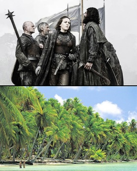 Island lair: You want to go to the Iron Islands (top, pirate Yara Greyjoy), book a ticket to the Bahamas (bottom, New ...