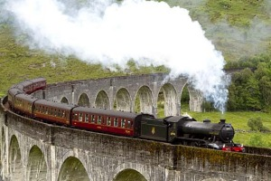 Hogwarts Express was played onscreen by The Jacobite steam.