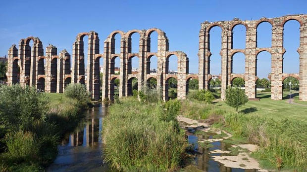Timeless: Roman ruins of the Miracles aqueduct.