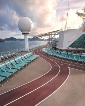 The jogging track on Royal Caribbean's Explorer of the Seas.