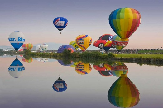 Saga Hot Air Balloon Festival in Japan.