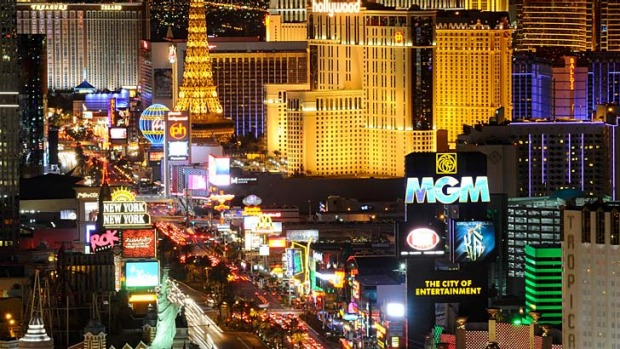 Top spot: The Las Vegas Strip.