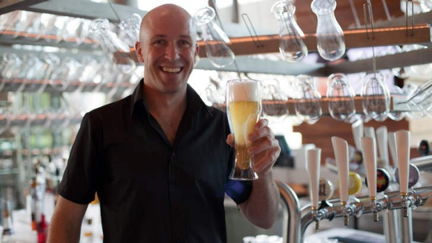 Micro goes mega: Brew Master Leon Mickelson.