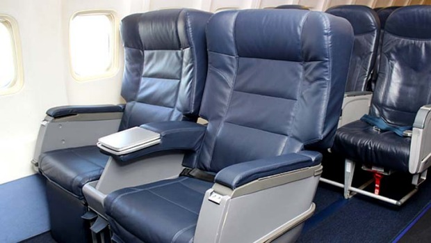 "Allegiant Air's new ""Giant Seats"" on its  Boeing 757."