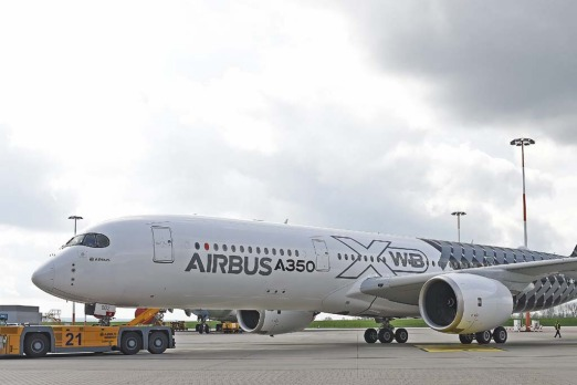 "The new Airbus A350 XWB is said to offer ""more personal space, flexibility and comfort"" than other aircrafts in its class."