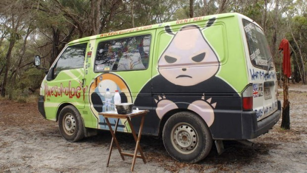 Wicked Campers is known for painting its campers with slogans some people find in bad taste.