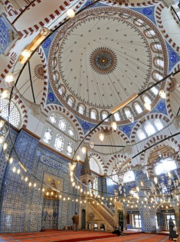 Turkey, Istanbul, historical centre listed as World Heritage by UNESCO, Sultanahmet District, Sultan Ahmet Camii (Blue ...