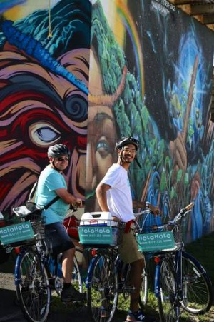 Saddle up: on the art trail with the Holoholo Bicycles tour.