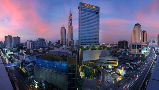 Towering success: Bangkok's skyline with the Amari Watergate.