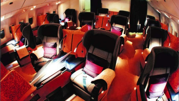 British Airways first class cabin in 2005.