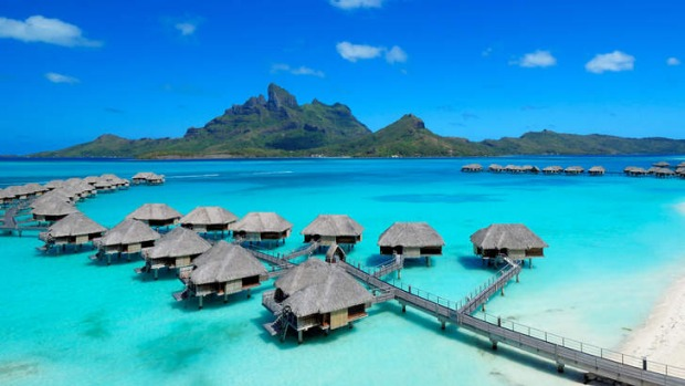 Four Seasons in Bora Bora, Tahiti.