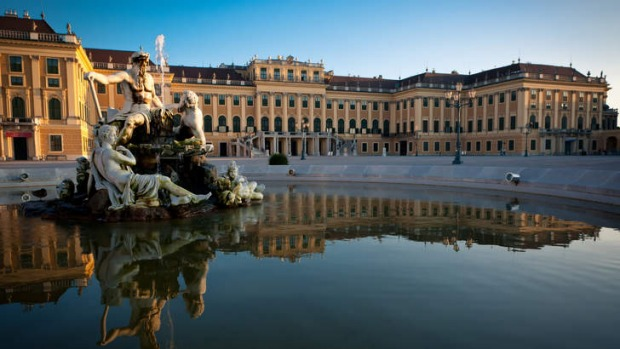 The Schonbrunn Palace.