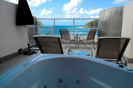 Escape to the rooftop of On the Beach, fill the spa and look out at one of Australia's best-known beaches – all in the ...