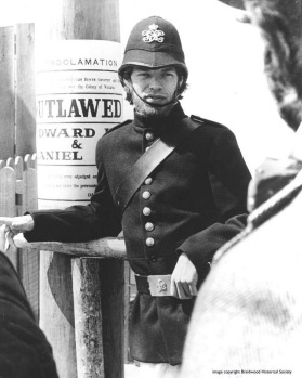 Mick Jagger in the 1970 film <i>Ned Kelly</i> filmed in Braidwood.