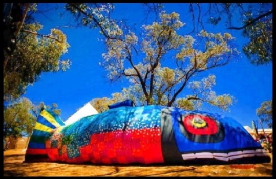 Collector?s answer to the skywhale - giant inflatable salmon.