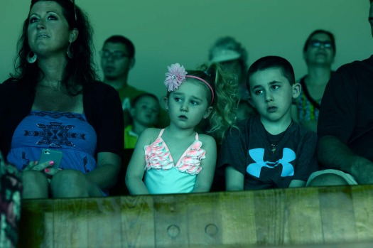 "A mom and her children watch an underwater show ""Little Mermaid"" at Weeki Watchee Springs State Park in Weeki Watchee, ..."