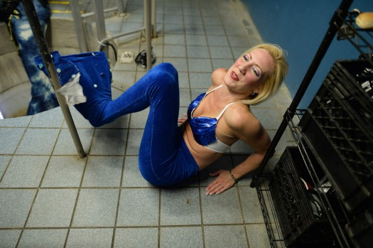 "'Mermaid' Stayce waits to dive in a tube room to play the main character of an underwater show ""Little Mermaid"" at Weeki ..."