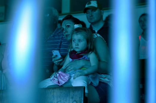 "A mother and her child watch a underwater show ""Little Mermaid"" at Weeki Watchee Springs State Park in Weeki Watchee, ..."