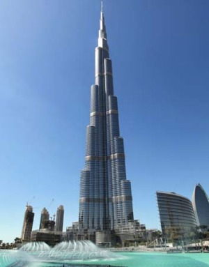The Burj Khalifa is the world's tallest man-made structure.