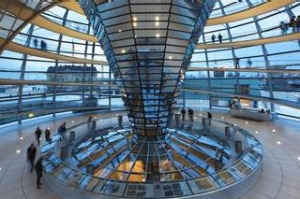 Germany, Berlin, Reichstag, Bundestag glass dome