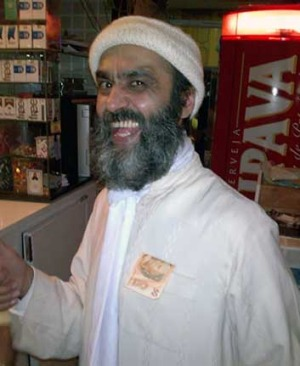 'Osama Bin Laden' enjoying time behind the bar.