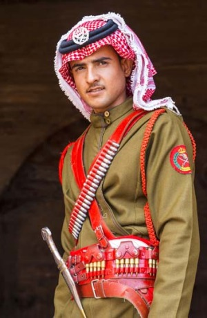 A guard in Petra, Jordan.
