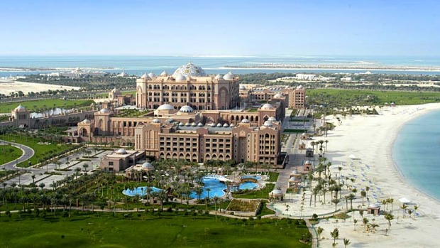 Special experiences: Emirates Palace Hotel, Abu Dhabi.