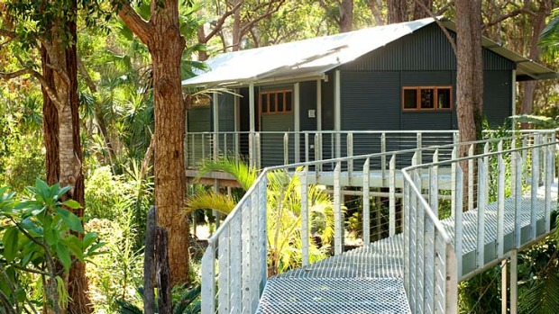 Wow factor: Treehouse Retreat at Diamond Waters is set in the rainforest and accessed by walkways.