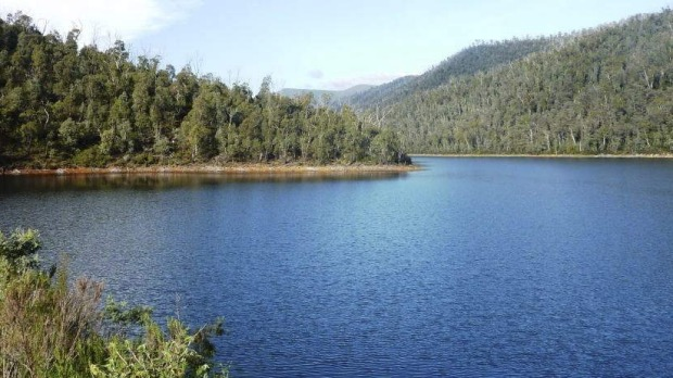 The placid waters of Bendora Dam.