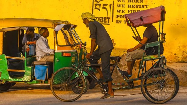 Bicycle rickshaw rides in India are never what they seem.