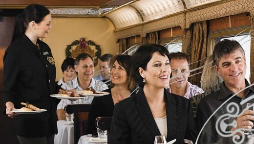 The Queen Adelaide dining car.