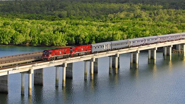 Iconic: The Ghan is one of the world's longest passenger trains.