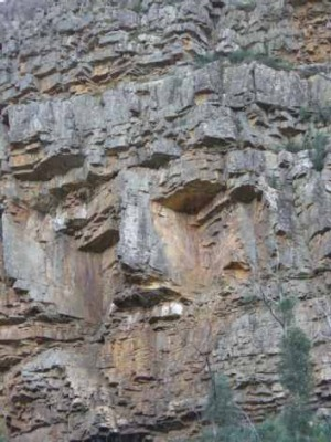 The 'guardian' face in a rock. Can you see it now?