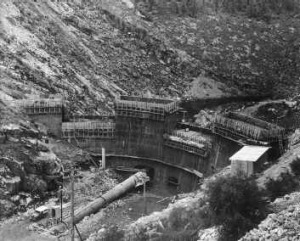 Bendora Dam under construction