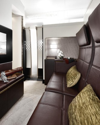Etihad Airways new residence class on board its Airbus A380 superjumbo.