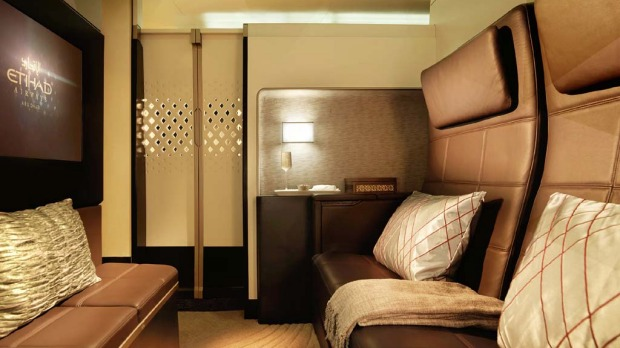 Etihad Airways' new ?residence? class on board its Airbus A380 superjumbos and Boeing 787 Dreamliners.