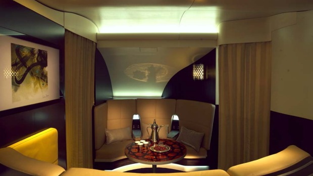 Etihad new residence lounge.