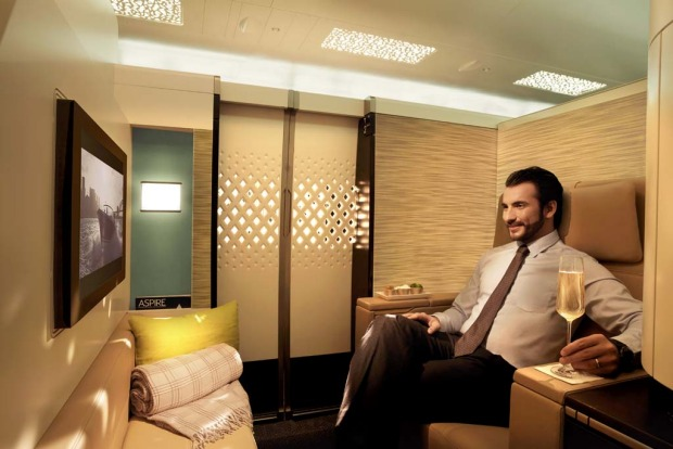 Etihad's first class apartment on the A380